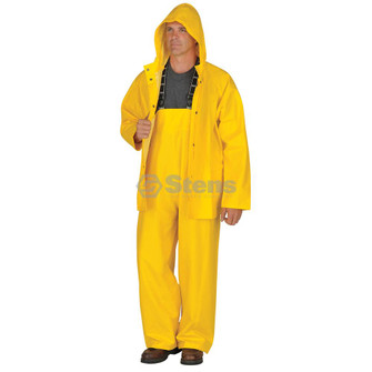 3 Piece Rainsuit, Detach Hood, Yellow, XL (Stens 047-001)