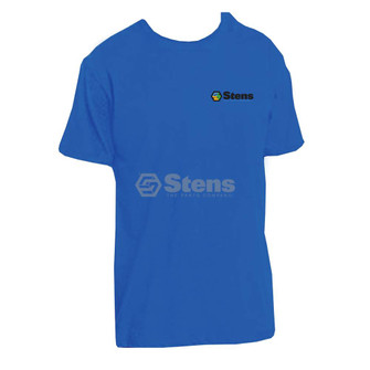Shirt XL, DT104 Deep Royal Blue with color logo (Stens 051-191)
